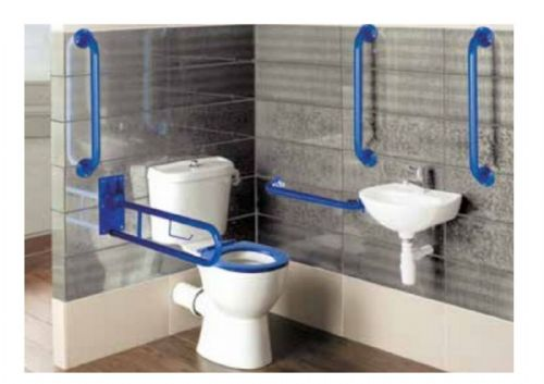 Eastbrook Luxury Close Coupled Doc M Pack With Blue Grab Rails